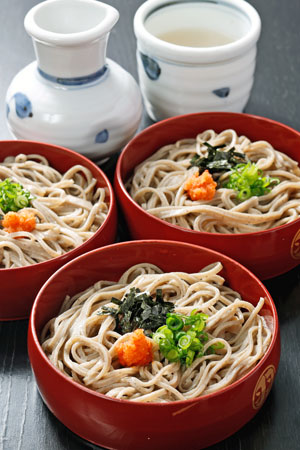 Izumo soba is darker and more aromatic than usual.