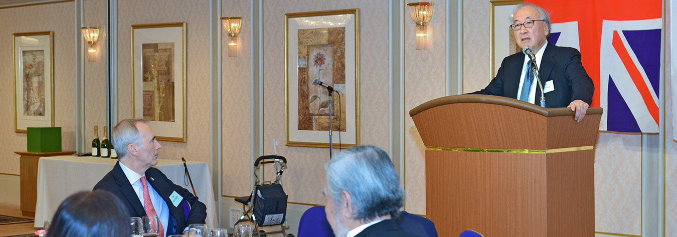 Dr Naoki Tanaka, president of the Center for International Public Policy Studies, delivered the guest speech.