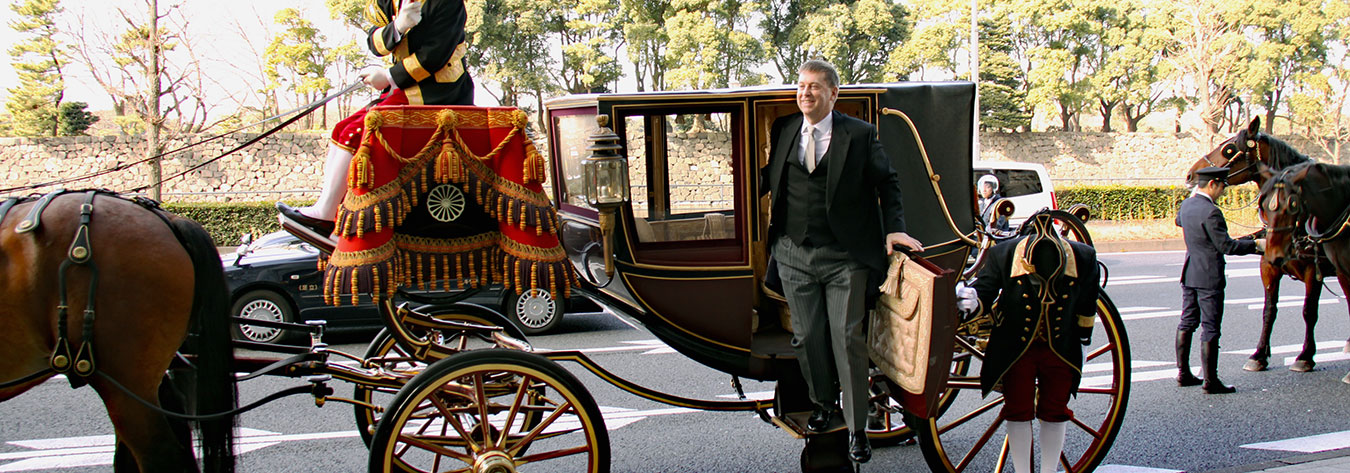 On 18 January, Ambassador Madden presented his credentials to the Emperor of Japan.