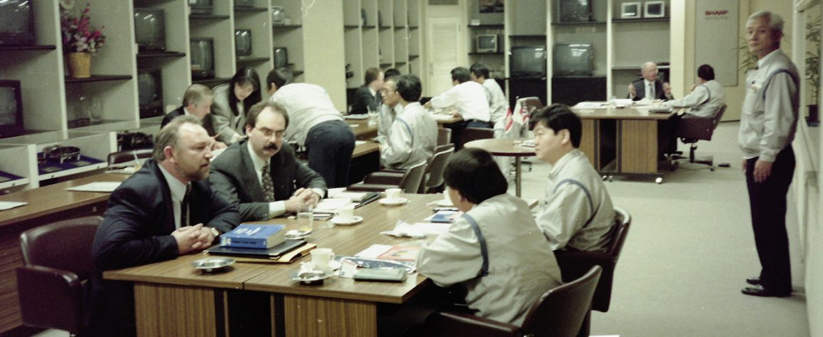 A typical meeting with customers during a Japanese Electronics Business Association mission